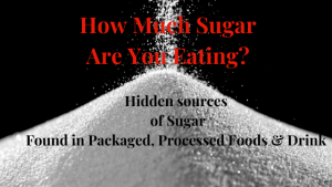 How much sugar are you eating and not realizing it. Hidden sources of sugar