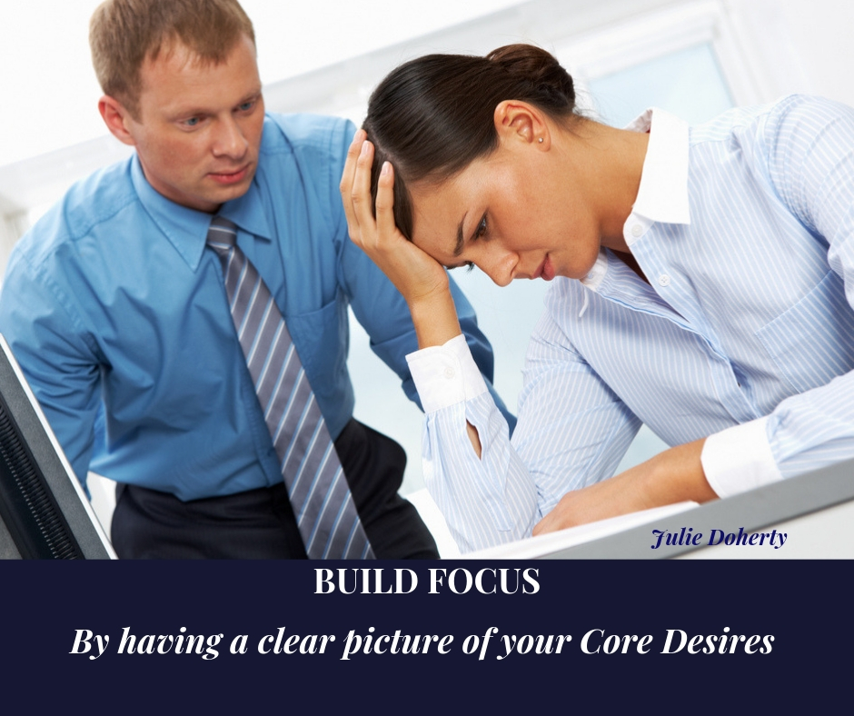 Build Focus by having a clear picture of your Core Desires