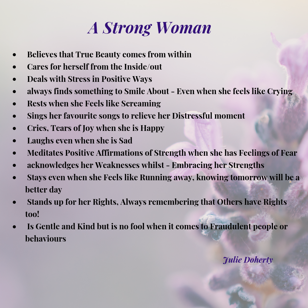 A Strong Woman believes that True Beauty comes from Within