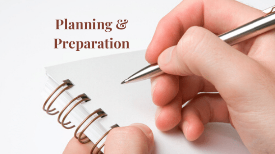Planning & Preparation essential for a Healthy, Happy & Successful Life