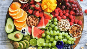 Healthy Eating begins with Eating a wide selection of fruit, vegetables, nuts and seeds
