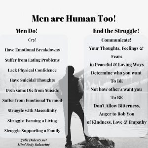 Men are Human and deserving of a Life of Optimal Health, Happiness & Vitality