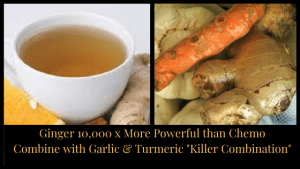 "Ginger-More-Powerful-than-Chemo-for-Cancer. Combine with Garlic & Turmeric ""Killer Combination"""