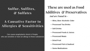 Sulfur, Sulfites,   & Sulfates  A Causative Factor to Allergies & Sensitivities