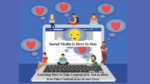 Whether we like it or not, Social Media is here to stay. Learning to Take Control of it, not allowing it to Take Control of us or our lives is the Key to Optimal Health, Mind and Body Balancing