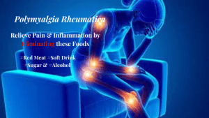 Polymyalgia Rheumatica can be relieved by eliminating Red Meat and Processed Foods