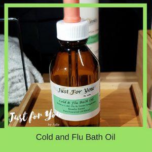 Cold & Flu Bath Oil