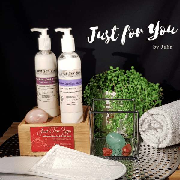 Just for You by Julie Soothing Foot Lotion and Soothing Hand Creme Set