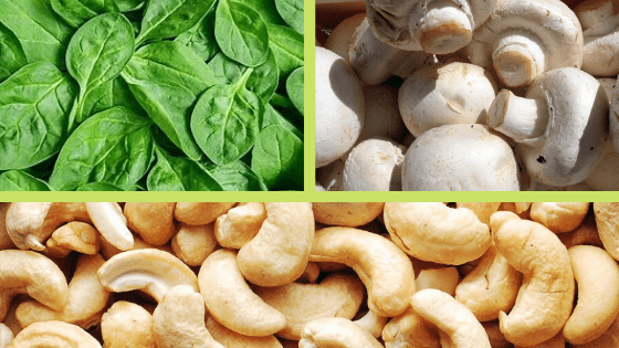 Healthy Eating made Easy with this Cashew, Spinach & Mushroom Bake Recipe