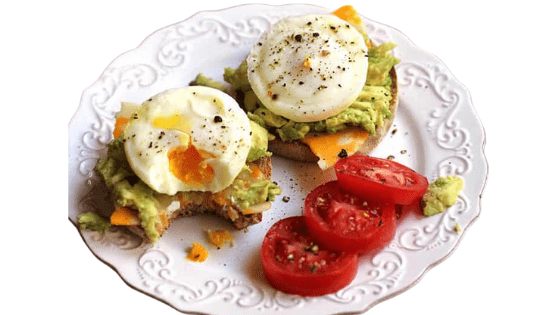 Poached Eggs on Pikelets with Avocado Salsa