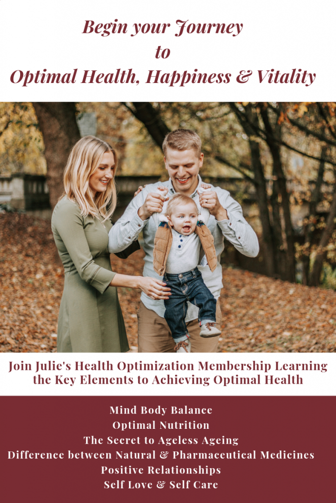 Begin the Journey to Optimal Health, Happiness and Vitality: Join Julie's Health Optimization Membership