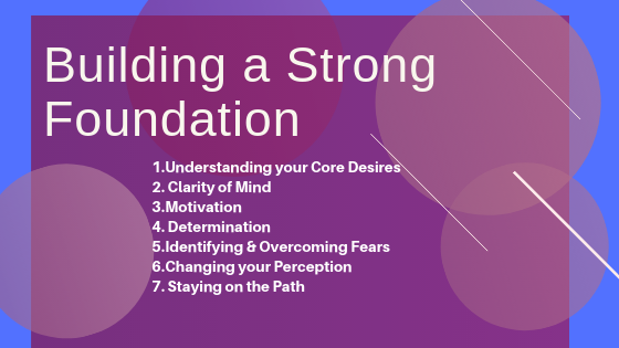 Building a Strong Foundation Is a Major Key - To Achieve Optimal Health, Happiness & Vitality