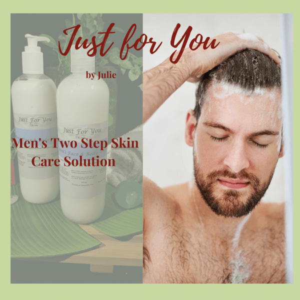 Mens Two Step Skin Care Solution: Caring for your Skin Naturally