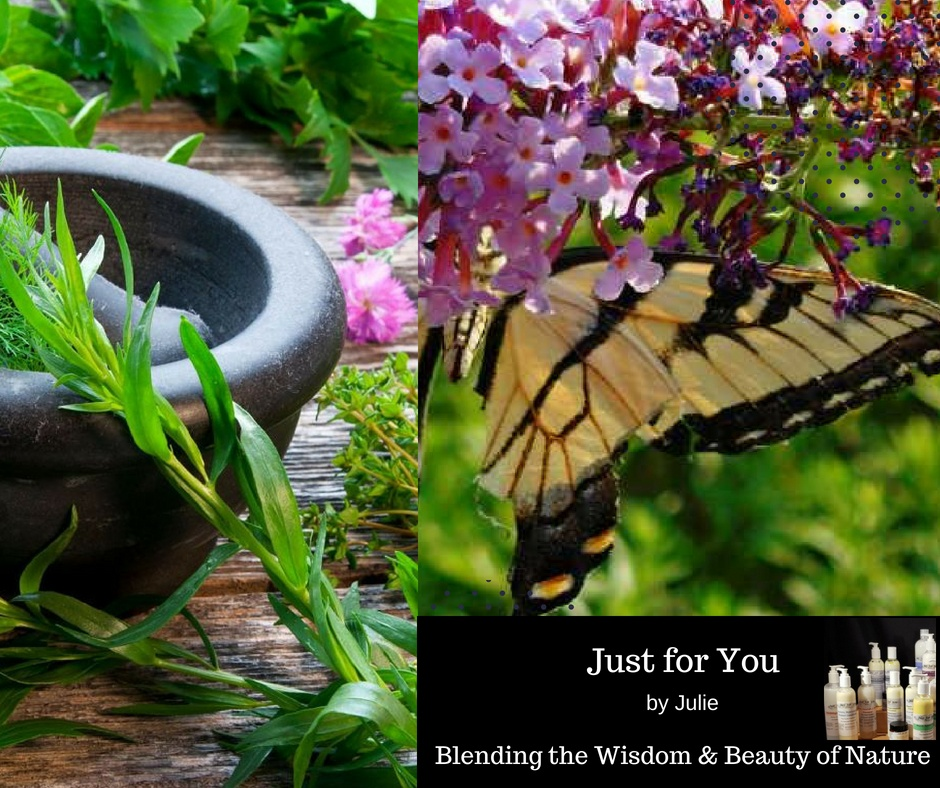 Just for You by Julie: Skin, Hair & Body Care that is a good for you on the inside as it is on the outside. Using the healing power of herbs and pure essential oils