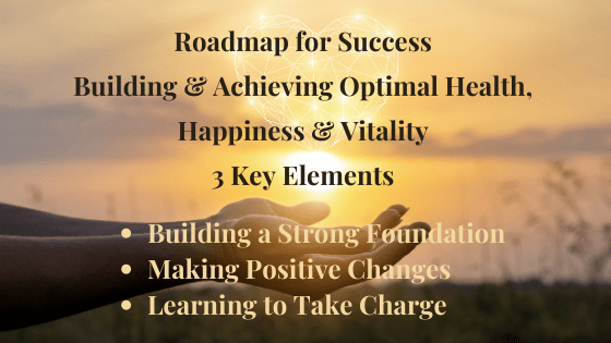Roadmap for Success  Building & Achieving Optimal Health, Happiness & Vitality 3 Key Elements